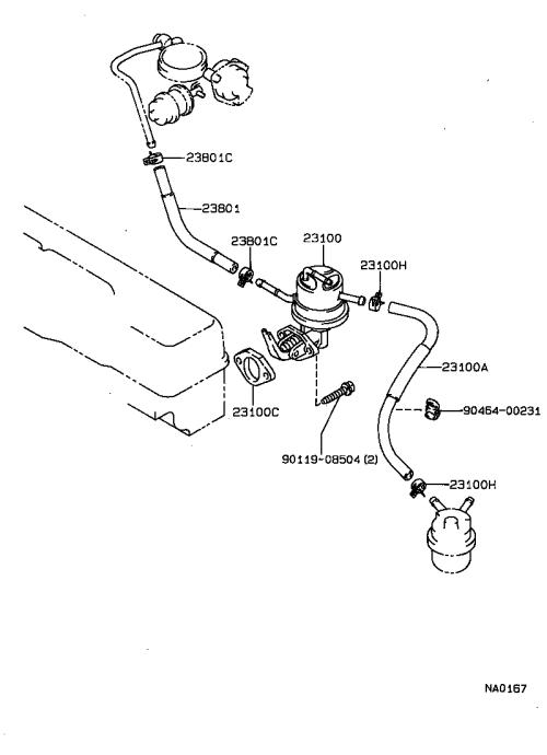 small resolution of corolla fuel pump pipe