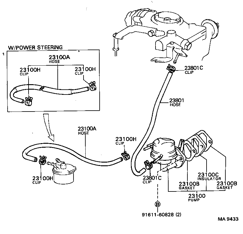 1982 Toyota Corolla Fuel Pump Diagram. Toyota. Auto Parts