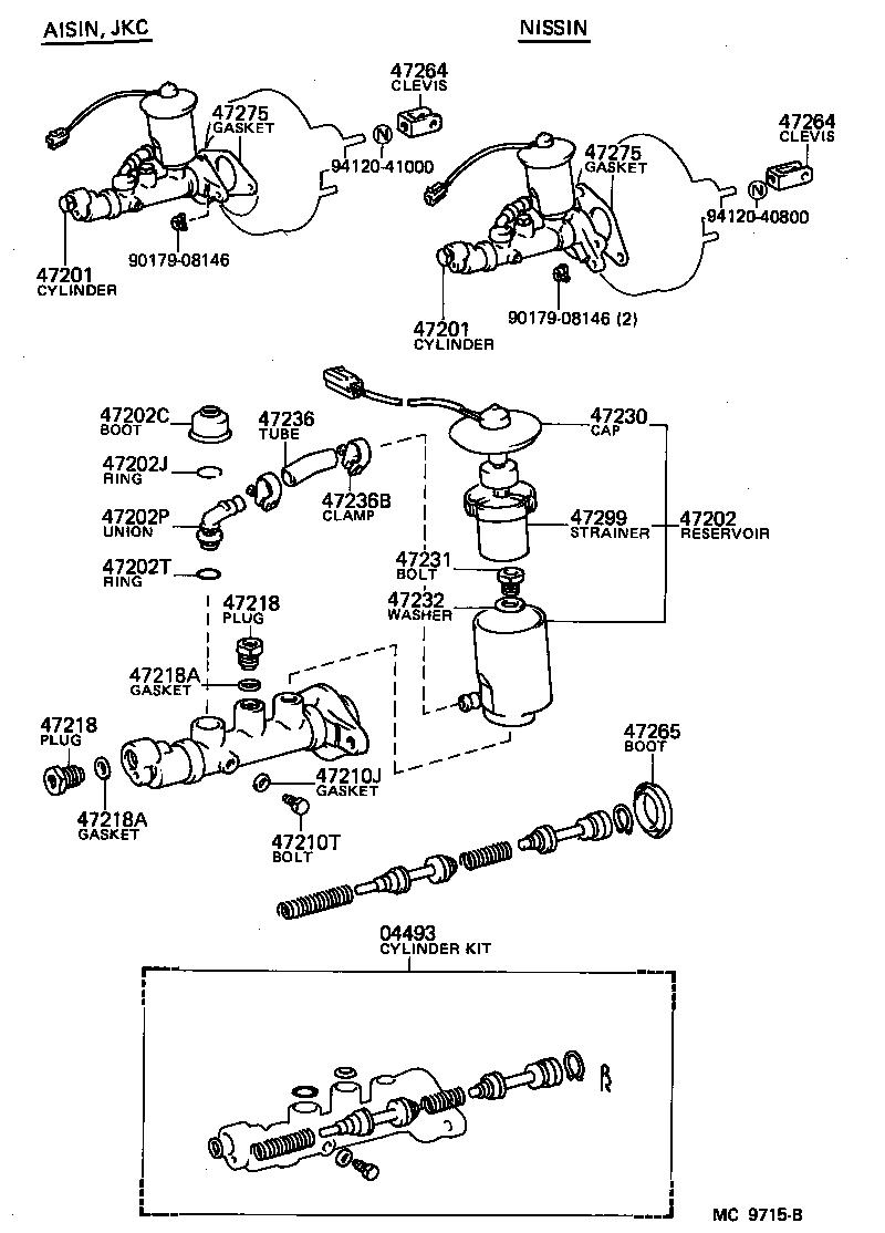 How a brake master cylinder works...