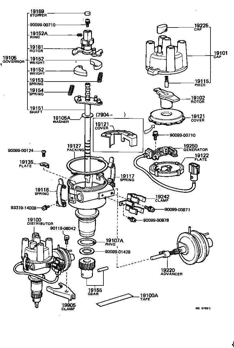 Toyota 3au engine parts