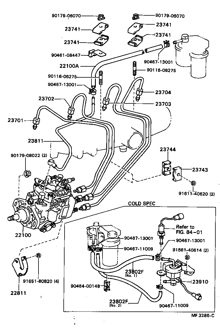 medium resolution of hilux injection pump assembly