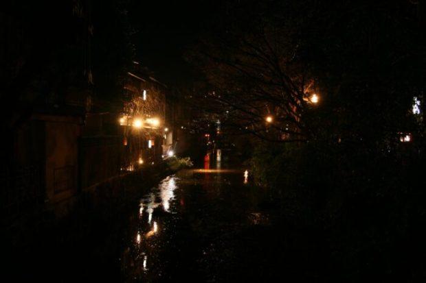 祇園の古い町並み