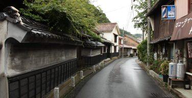 温泉津温泉の古い町並み