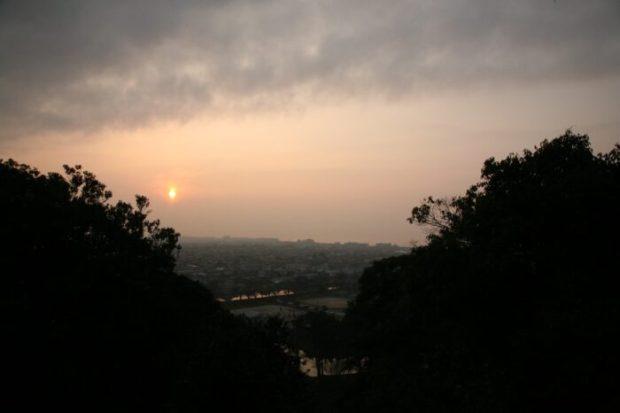 彦根城から見る夕景