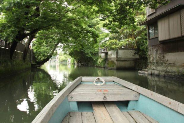 柳川の川下りの風景