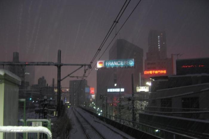 日本各地の冬の風景「東京 新宿」