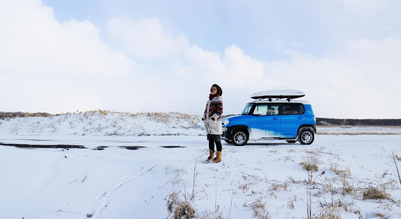 オロロンリンドライブ。冬。1月