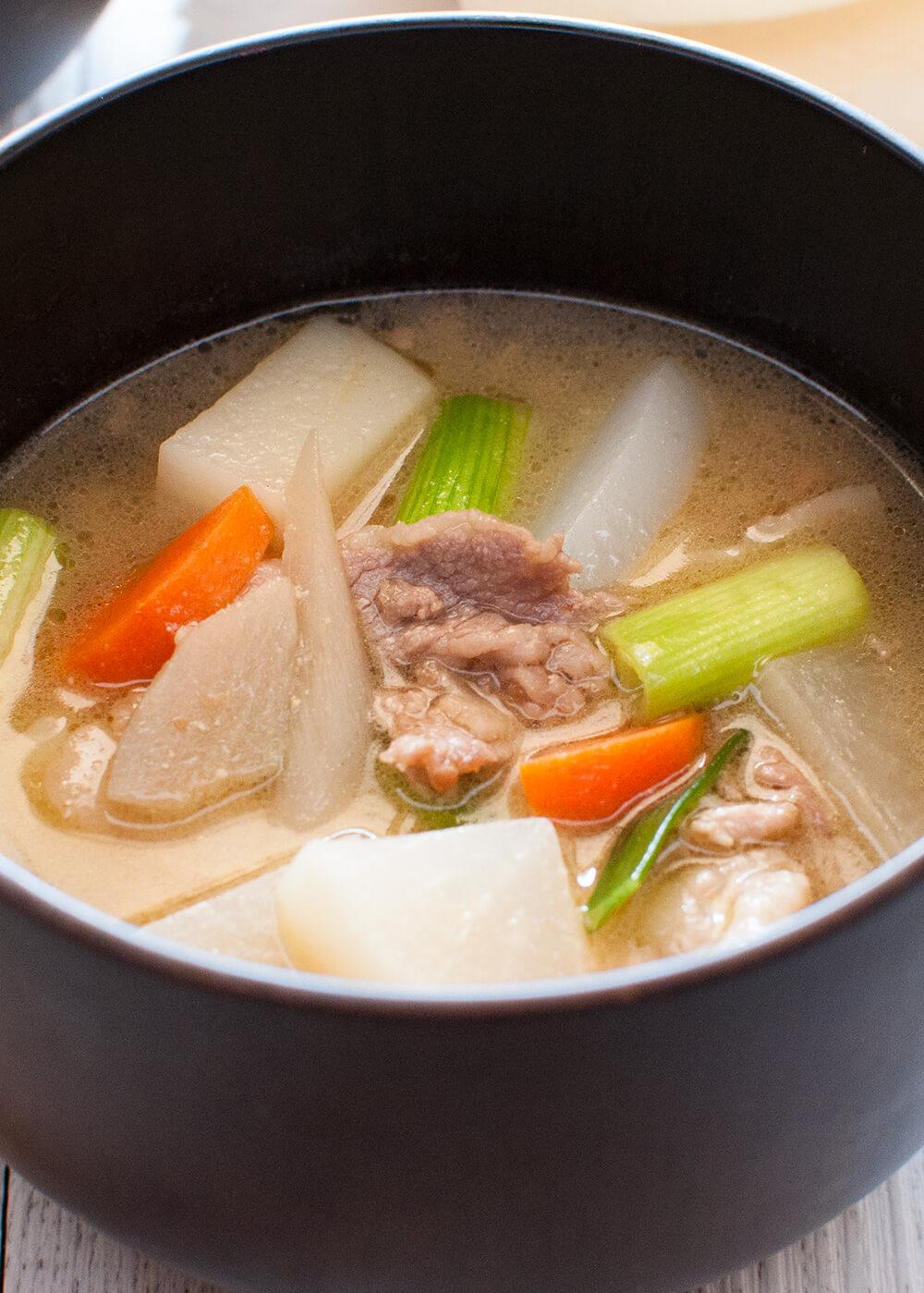 Tonjiru Pork and Vegetable Miso Soup  RecipeTin Japan