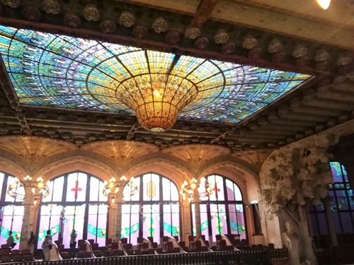 スペイン・バルセロナのカタルーニャ音楽堂