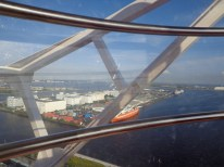 A look from inside the ferris wheel!