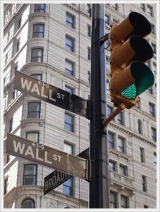 ウォール街の道路標識