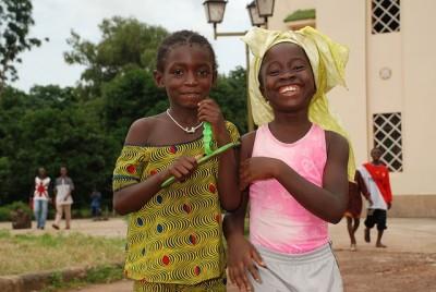 アフリカ元気な女の子