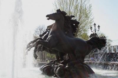 モスクワの馬銅像