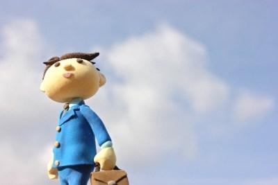 青空とサラリーマン
