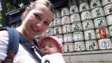 Pred Meiji svetiščem.