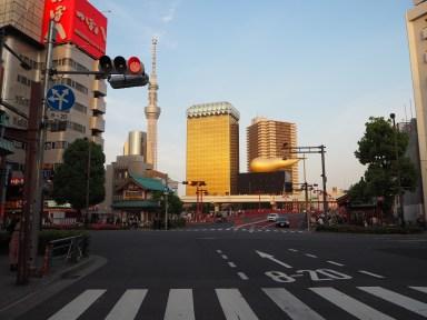 Stolp Tokio Skytree in pivovarna Asahi.