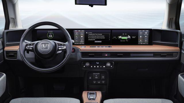 2020 Honda E interior