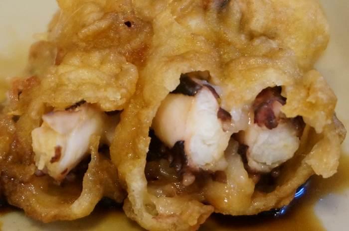 Hanamaru Udon はなまるうどん Squid arms tempura げそ天