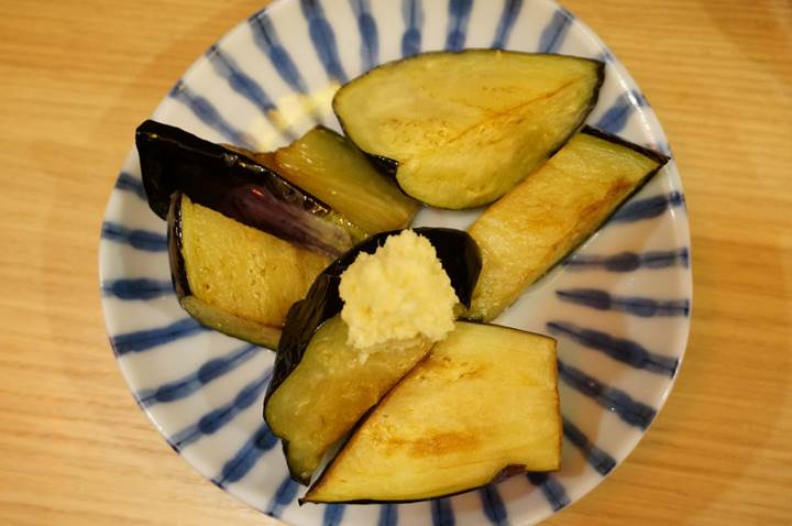 Banpaiya 晩杯屋 Deep fried eggplant with grated ginger なすしょうが