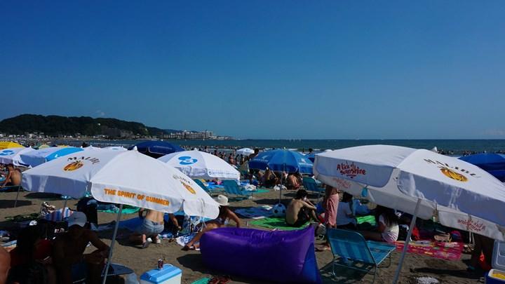 Yuigahama Beach 由比ガ浜海水浴場 Kamakura 鎌倉