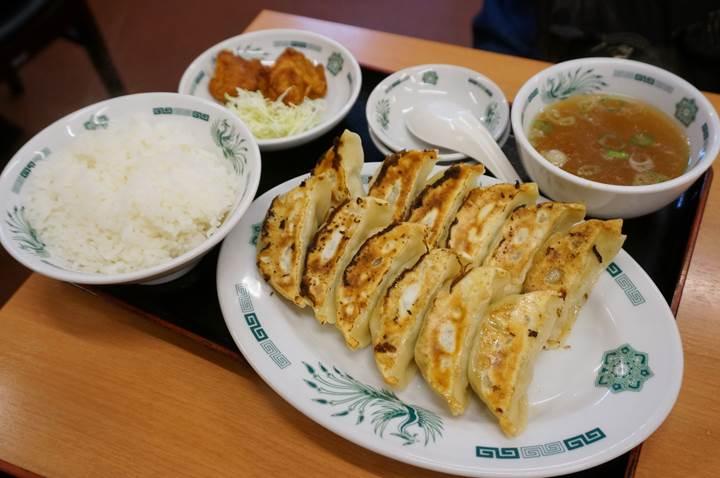 HIDAKAYA W Gyoza Set 日高屋 W餃子定食