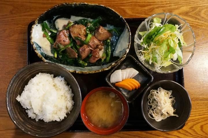 究極のレバにら定食 - ここのつ / Sauteed Chicken Liver & Chive Set Meal - KOKONOTSU レバニラ ニラレバ