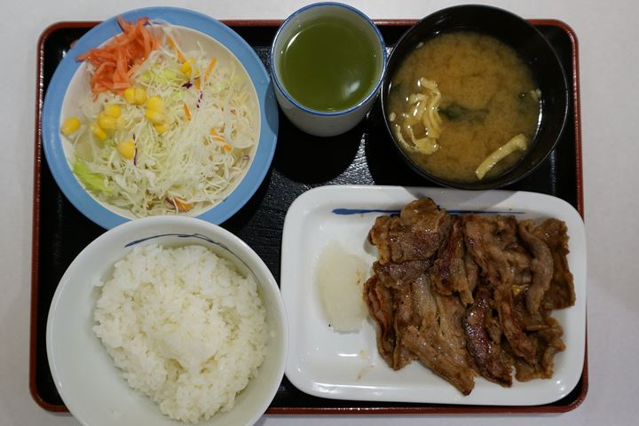 Barbecued Marinated Beef Set Meal カルビ焼肉定食 - Matsuya 松屋