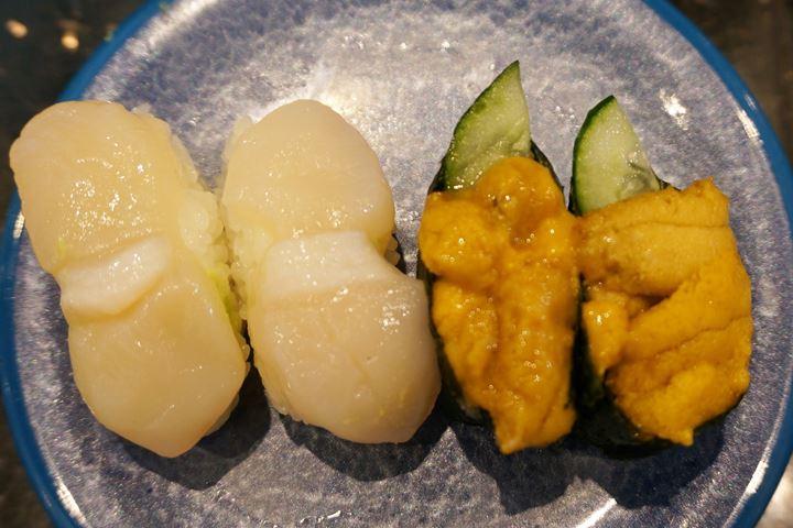 ほたて貝 Scallop うに Sea Urchin Sushi 回転寿司 鮨 - OOEDO 大江戸