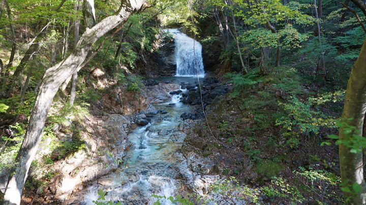 Ryuokyo Ravine 龍王峡 - Tategoto Falls 竪琴の滝