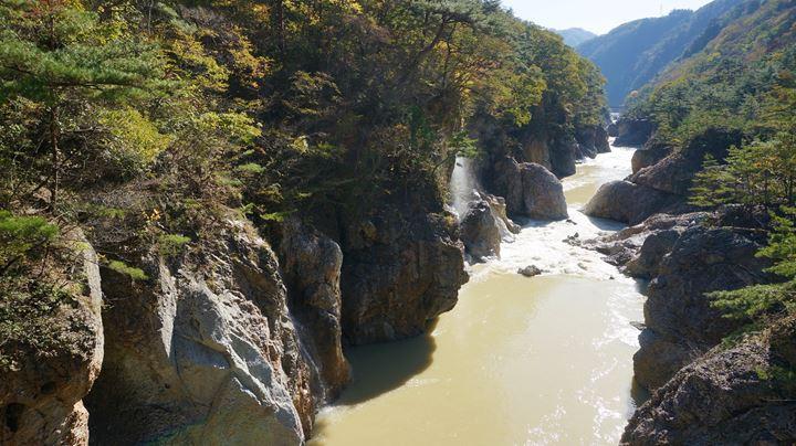 Ryuokyo Ravine 龍王峡 - Musasabibashi Bridge むささび橋