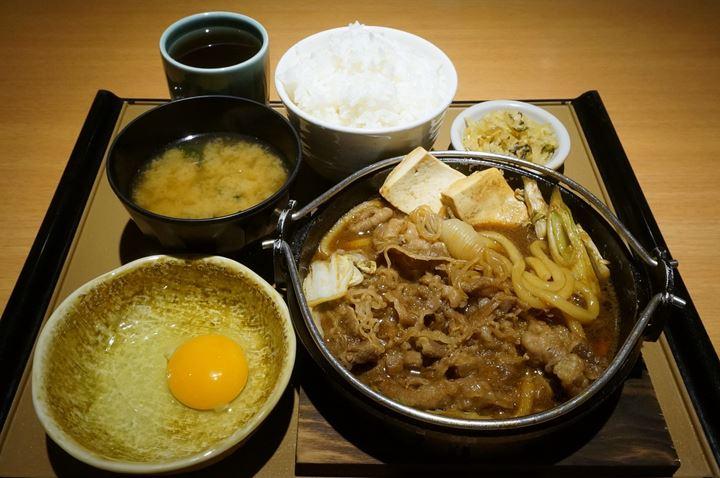 すき焼き定食 Beef Sukiyaki Teishoku (Set Meal) - やよい軒 JAPANESE TEISHOKU RESTAURANT YAYOI (YAYOIKEN)