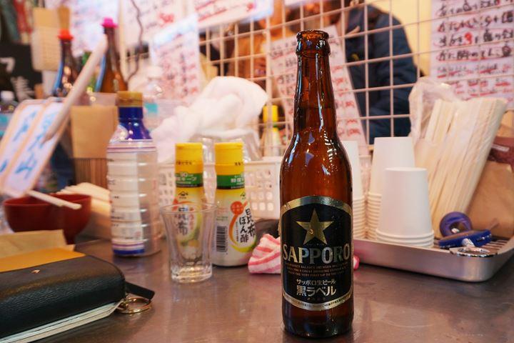 Sapporo Beer at UOKUSA in Ueno Tokyo 東京 上野 魚草 サッポロ生ビール黒ラベル