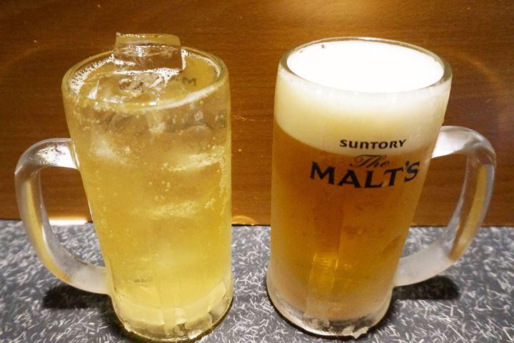 Highball YUZU, Draft Beer ビームハイ/ハイボールゆず 生中 - YAKITORIDON Komagome Branch 焼鳥どん 駒込店