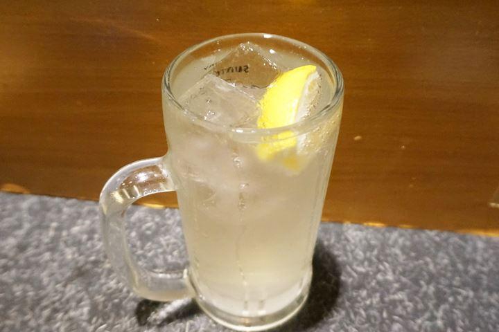 Lemon Mixed with Shochu チューハイレモン - YAKITORIDON Komagome Branch 焼鳥どん 駒込店
