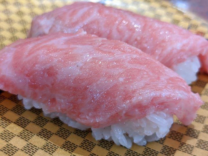Super Fatty Bluefin Tuna 本まぐろ 大とろ - Sushi CHOUSHIMARU すし 銚子丸 - 回転寿司 鮨