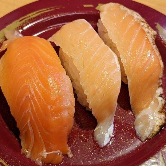 SUSHIRO スシロー Salmon サーモン3貫盛り