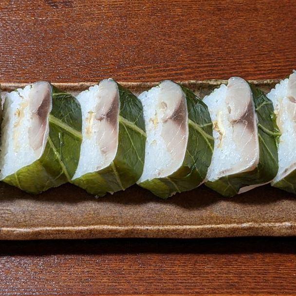 SUSHIRO スシロー さば Fatty Mackerel Pressed Sushi とろ鯖押し寿司
