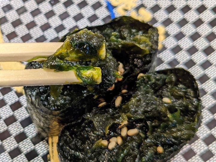 Fresh Nori Seaweed 生のり軍艦 ヒトエグサ - Sushi CHOUSHIMARU すし 銚子丸 - 回転寿司 鮨