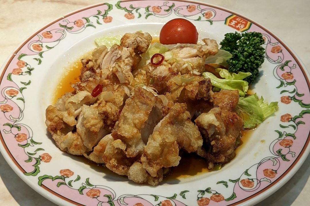 Gyoza OHSHO 餃子の王将 Deep fried Chicken Thigh with Sweet and Sour Sauce 油淋鶏 ユーリンチー