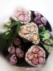 artistic decorational maki rolls photo