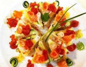 デコレーション寿司カット後写真