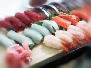 寿司甘エビとイカ