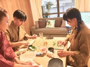細巻き寿司作り