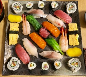 ゲスト作の美しい寿司