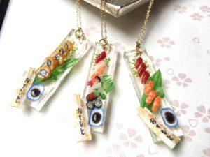 ミニチュア3D寿司ネックレス