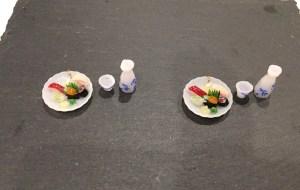 ミニチュアフード寿司と熱燗イヤリング