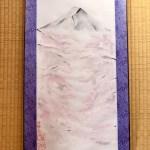 掛け軸 日本画 水墨画 桜と富士山