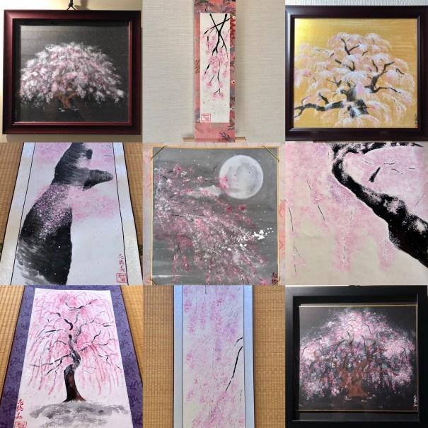 日本画 桜アート 掛け軸 絵画