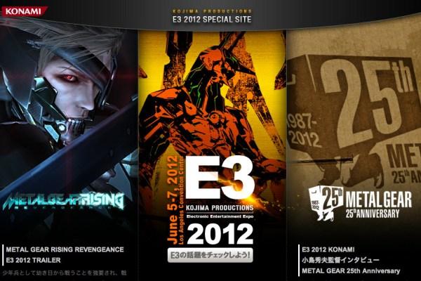 Kojima Prod Opens Multiple Game Site For E3