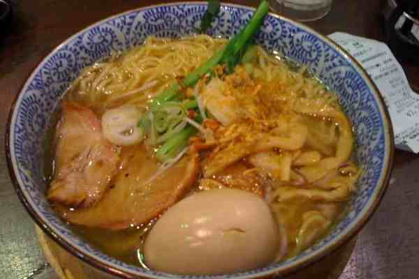 Ramen noodles done up, gourmet style